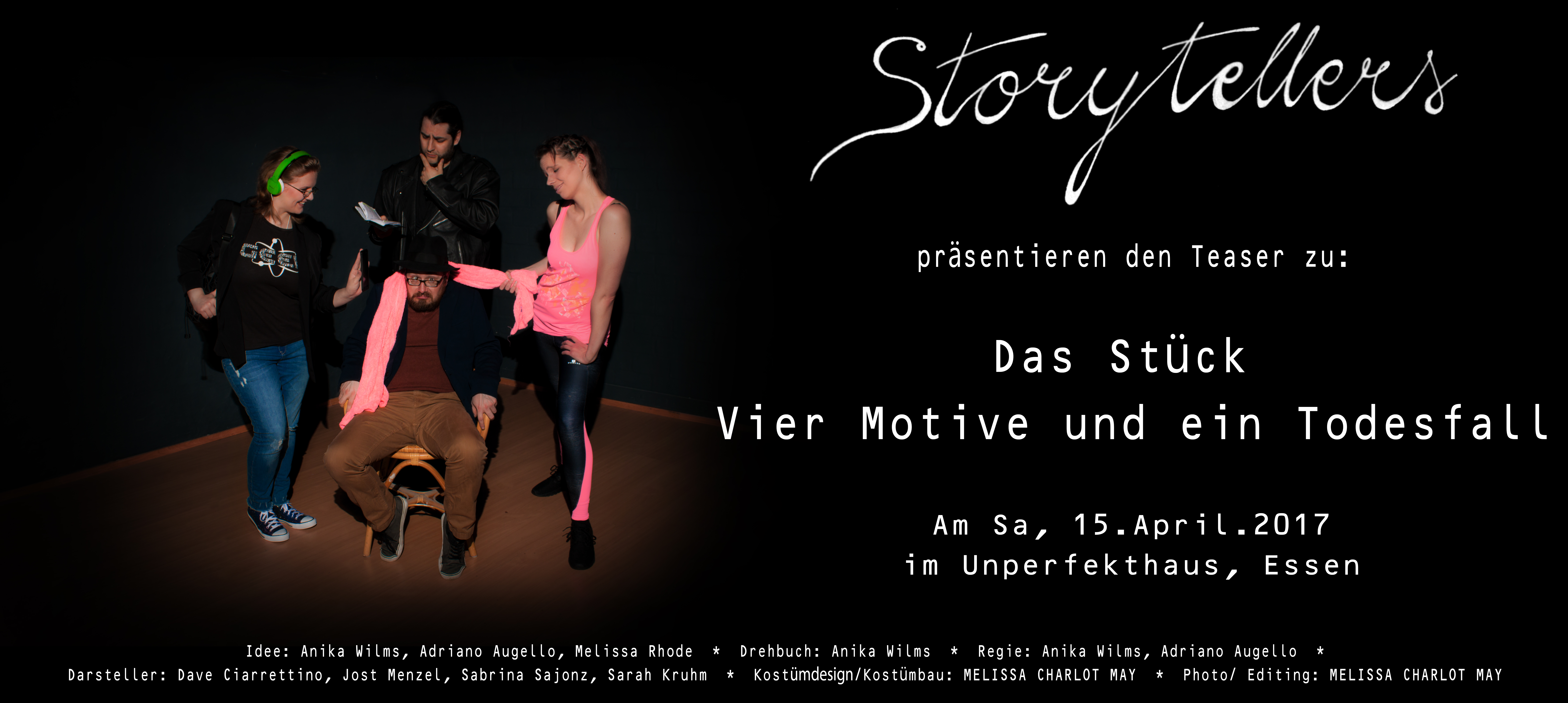 Storytellers - Plakat - quer - Sa, 15.April.2017